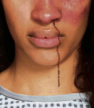 A victim of intimate partner violence